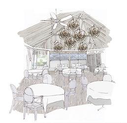 Hotel Cheval Blanc Isle de France luxury hotel sketch