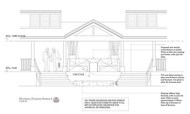 Hotel Cheval Blanc Isle de France luxury hotel interior design section drawing