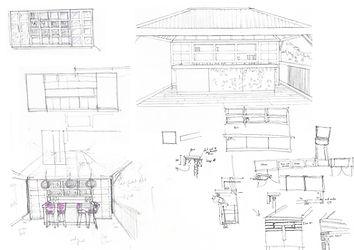 Hotel Le Toiny Conceptual sketches luxury interior design