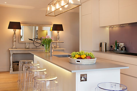 London Townhouse kitchen lighting