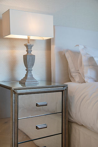 Private Residence St Barth's side table bedroom