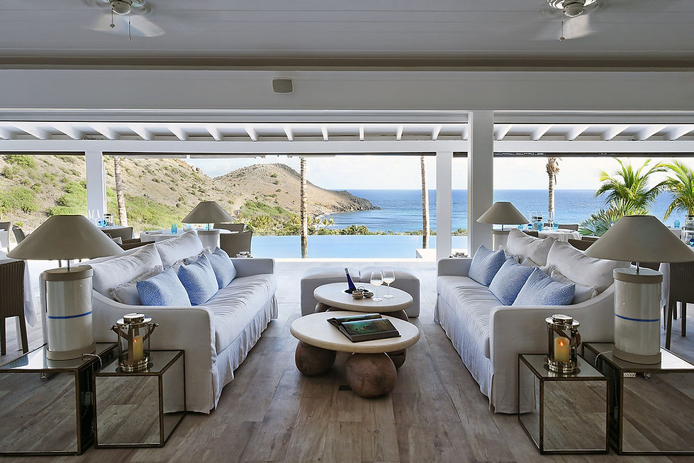 Hotel Le Toiny St Barth's Ocean Views Lounge Bee Osborn Interiors Studio