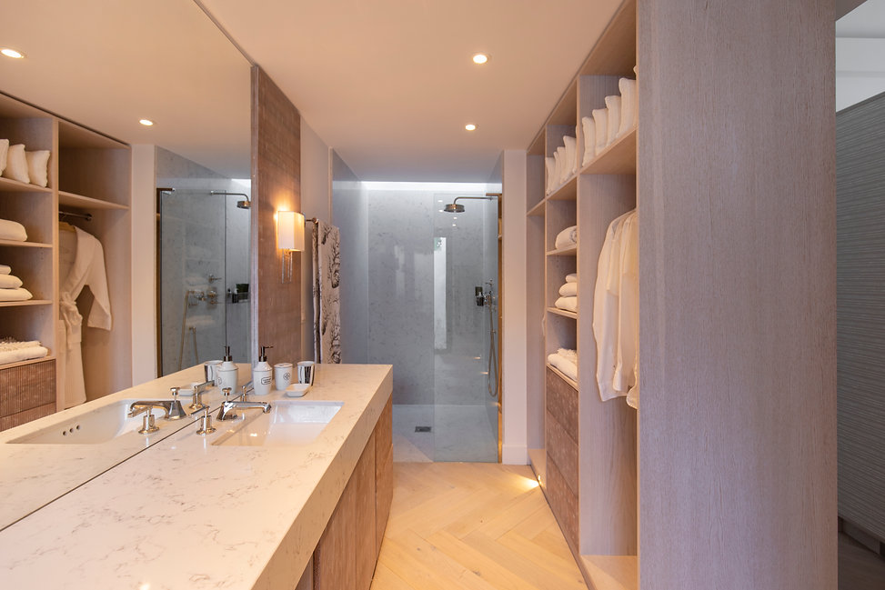 Private Residence St Barth's Bathroom bespoke cabinetry joinery luxury