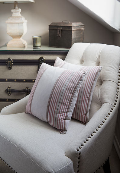 London Boutique Residences bedroom stud chair trunk side table details