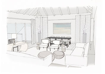Hotel Cheval Blanc Isle de France perspective drawing