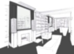 Charles Worthington Salon Fitzrovia concept sketch sitting area reception vistas
