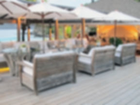 Hotel Cheval Blanc Isle de France restaurant outdoor seating