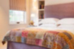 London Townhouse bedroom bespoke headboard
