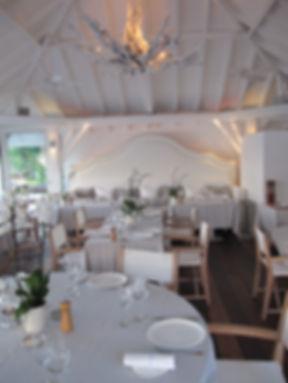 Hotel Cheval Blanc Isle de France restaurant driftwood light fixture