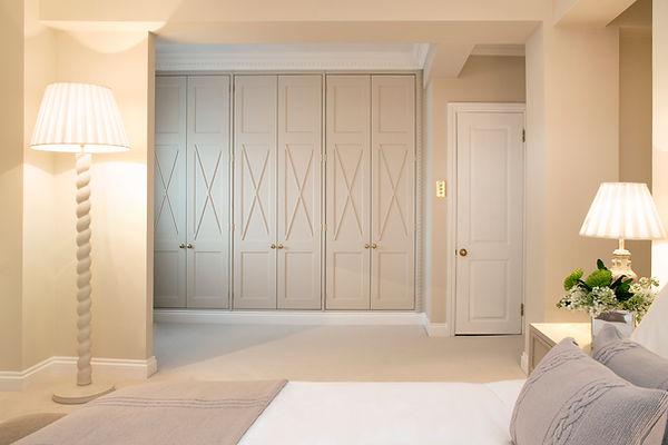 Chelsea apartment bedroom closet bespoke details textures
