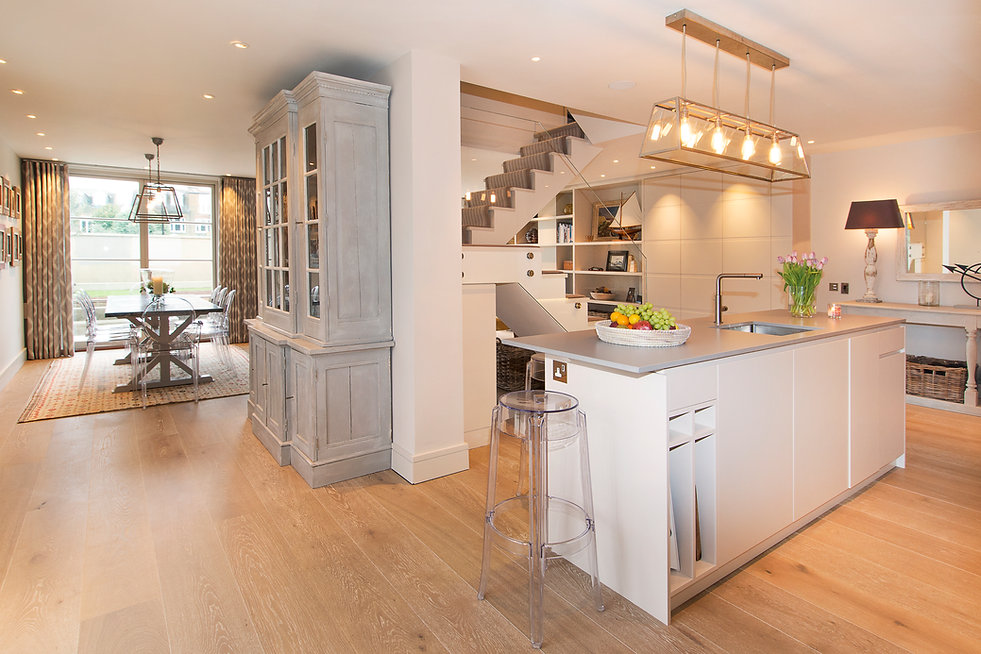 London Townhouse kitchen dining room open plan