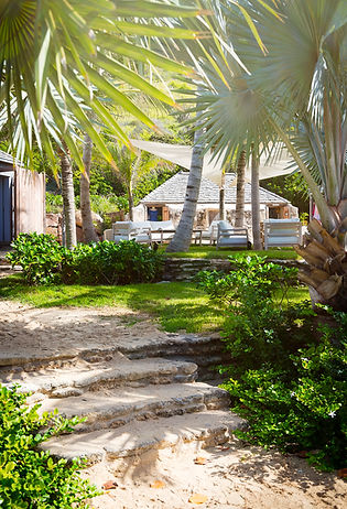 Hotel Le Toiny St Barth's garden walkway