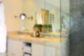 Chelsea Townhouse bathroom luxurious tile shower double sink