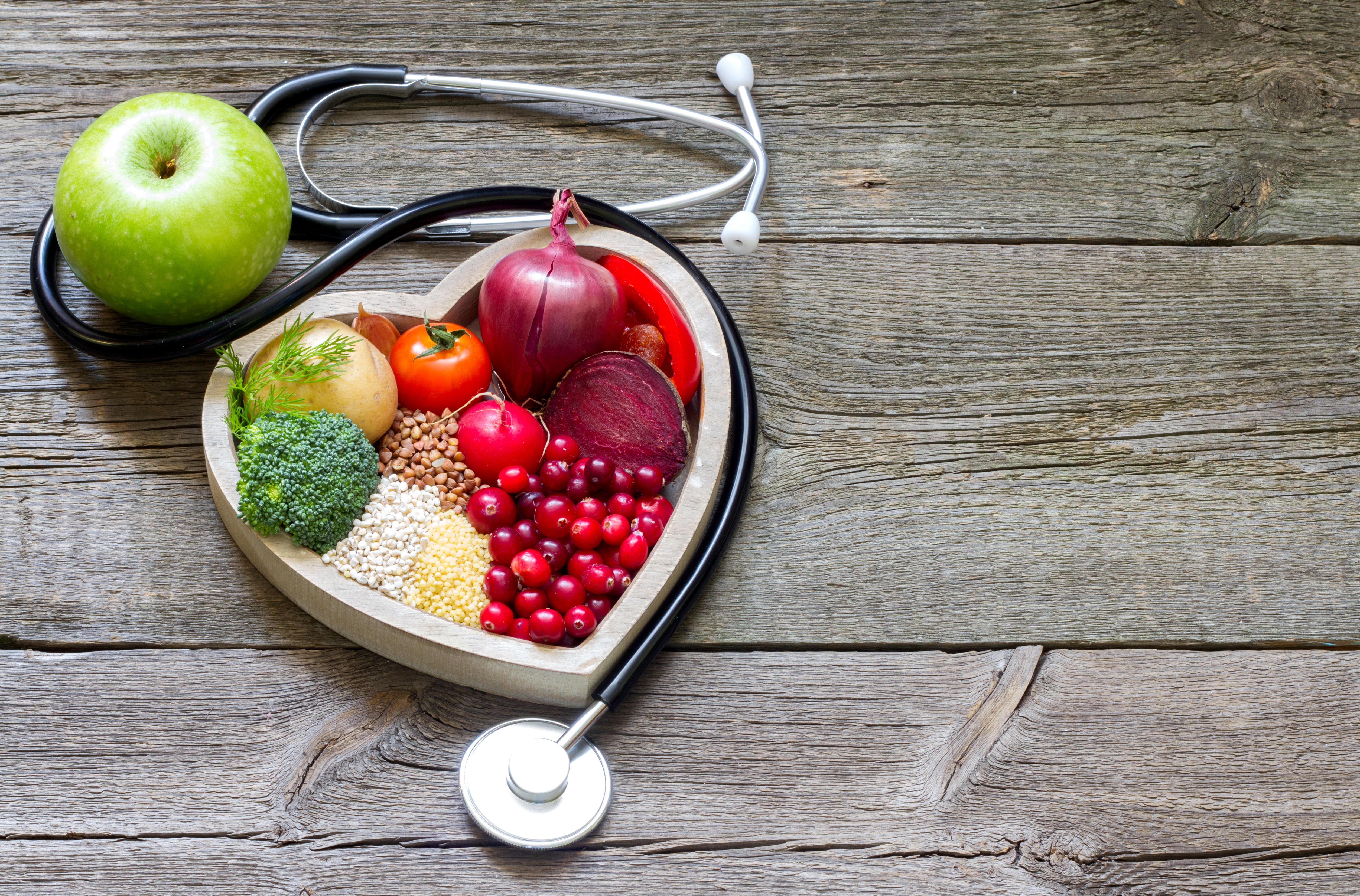 Healthy food in heart and cholesterol di