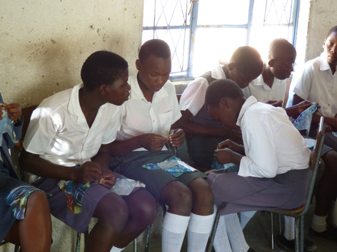 Sewing class at Whitewaters School