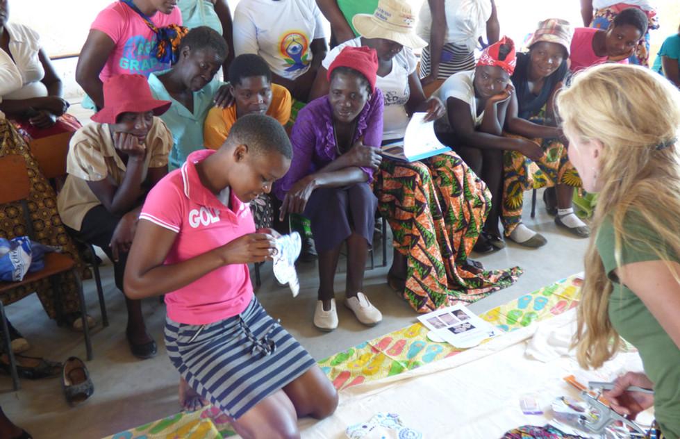 Sewing class at Sianyanga