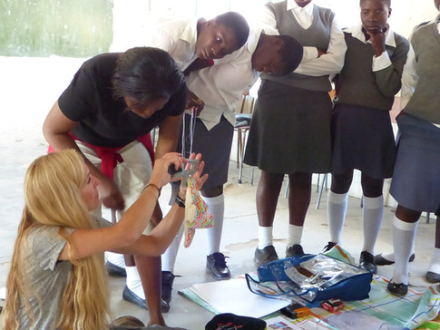 Sewing fun - Whitewaters School