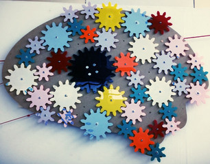 Cogs in the shape of a brain.