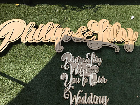 Large Sign for a Wedding