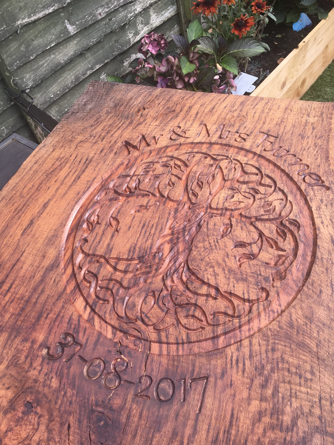 CNC Wedding Chopping board Oak