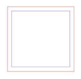 Red lines laser cut, blue lines laser engrave.