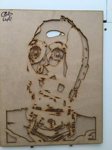 Robot Stencil from MDF.
