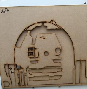 Robot Stencil from MDF