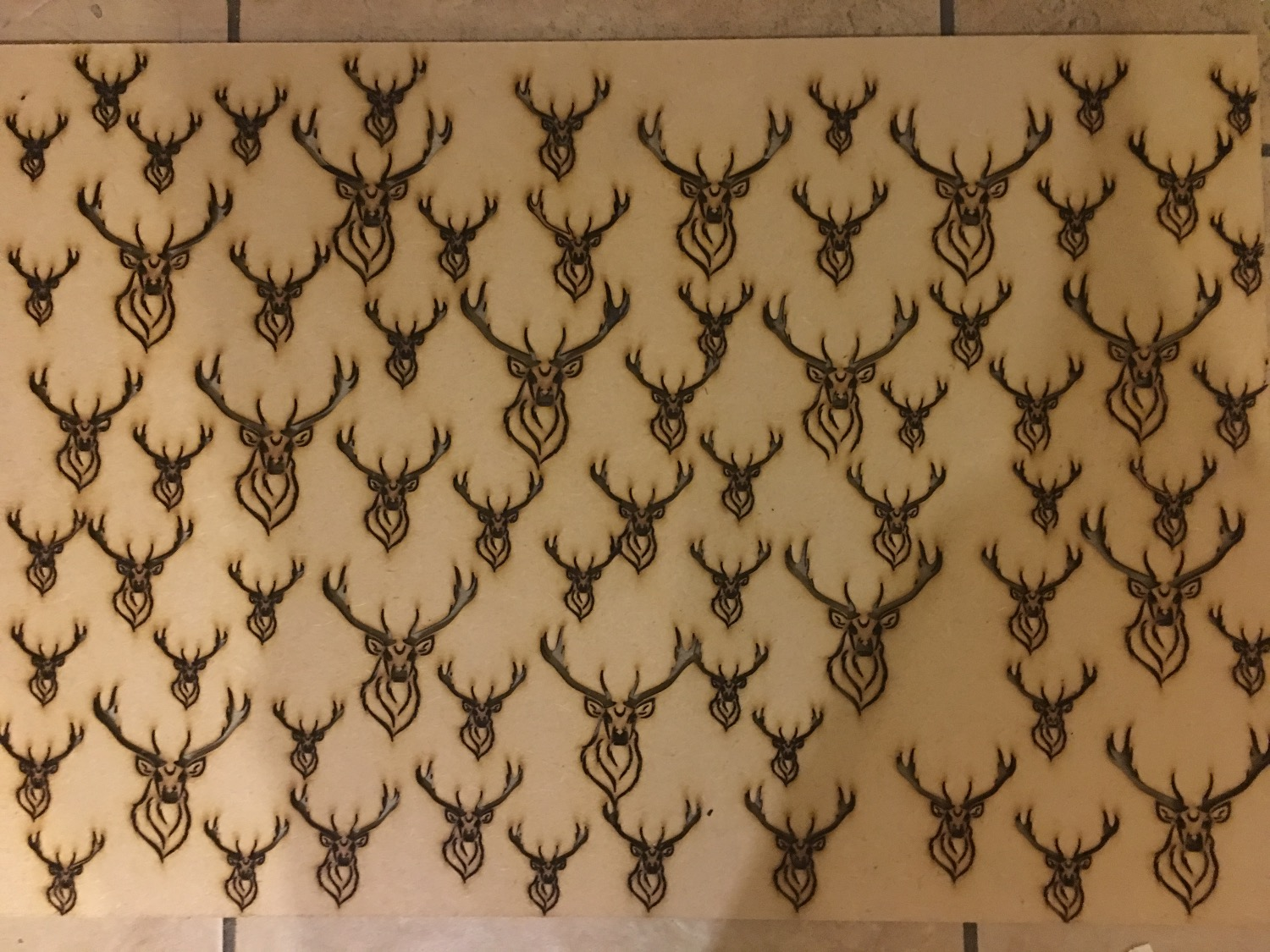 Stag laser cut MDF radiator cover