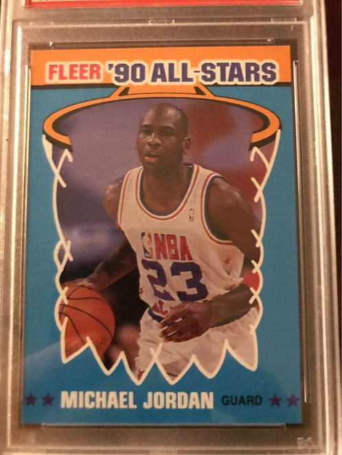 "1990 FLEER ALL-STARS MICHAEL JORDAN #5 PSA ""10"""