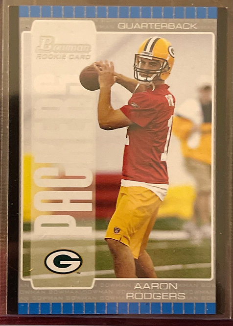 """2005 BOWMAN AARON RODGERS ROOKIE CARD #112  """"092-200"""" VERY RARE!!"""