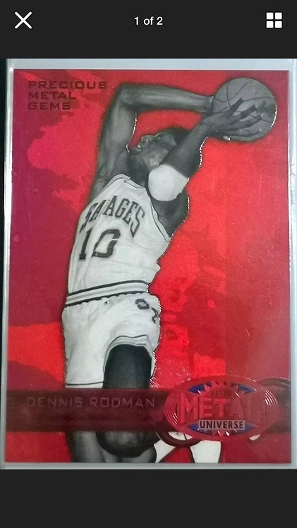 Original 2011-12 Fleer Retro Red Precious Metal Gems #PM-12 Dennis Rodman 72/150