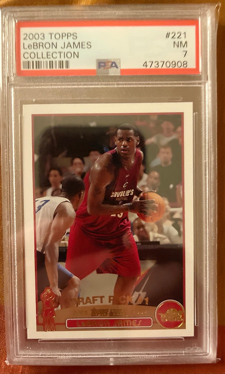 2003 TOPPS LEBRON JAMES COLLECTION #221