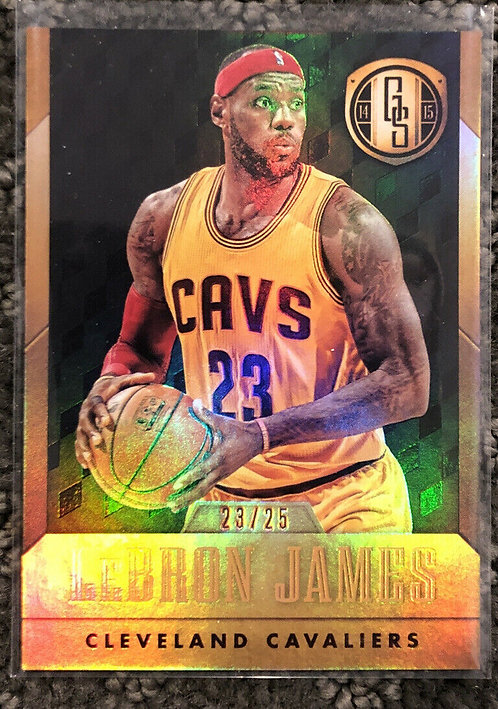 2014-15 Gold Standard LeBron James Black Parallel Cavaliers 23 OF 25