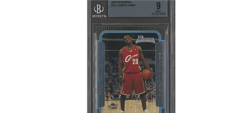 2003-04 Bowman #123 LeBron James Cavaliers RC Rookie Graded Beckett BGS 9 MINT