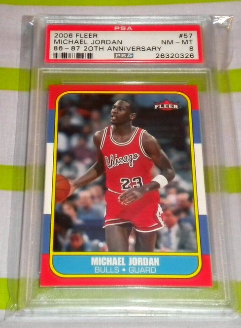 MICHAEL JORDAN 2006-07 Fleer 1986-87 20th Anniversary PSA 8
