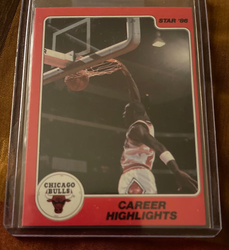 1986 STAR MICHAEL JORDAN CAREER HIGHLIGHTS #7 ORIGINAL CARD! Nice!!
