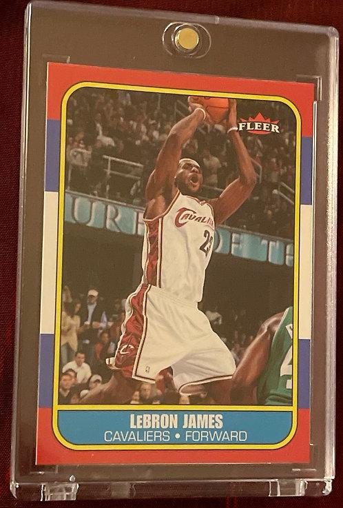 2006-07 FLEER RETRO LEBRON JAMES #71
