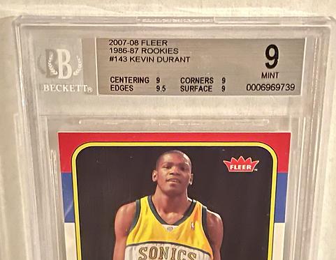 2007 Fleer '86 Rookies Kevin Durant ROOKIE Year RC #143 Beckett BGS 9.0 MINT