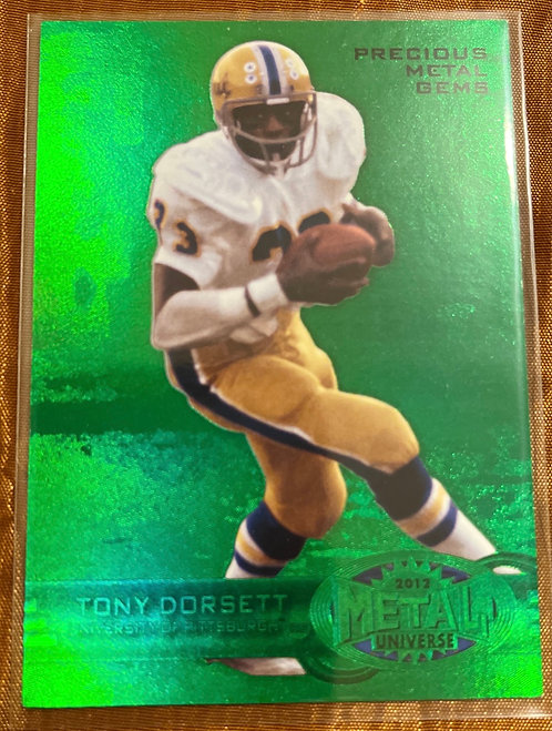 2012 FLEEE RETRO TONY DORSETT PRECIOUS METAL GEMS GREEN #M7 05/10 RARE!