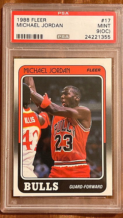 1988-89 FLEER #17 MICHAEL JORDAN GRADED PSA 9 (OC) MINT