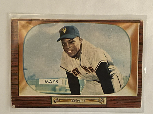 1955 Bowman # 184 - WILLIE MAYS - Authenticed by Pristine Auction House -HOF -