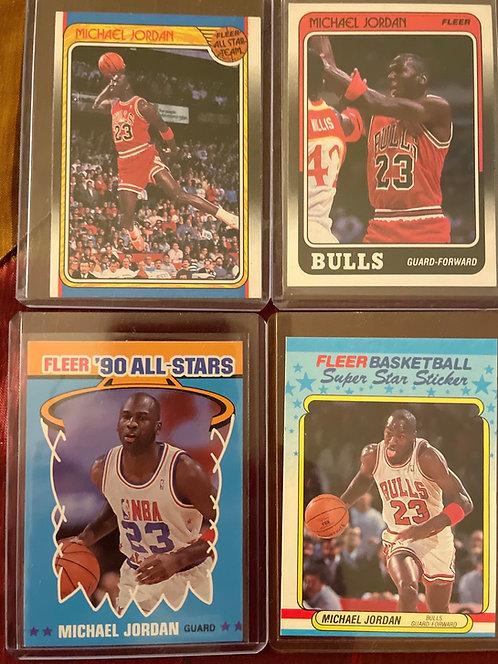 1988-90 FLEER MICHAEL JORDAN STICKERS AND CARDS RAW ORIGINALS LOT!