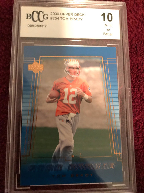 2000 Upper Deck Tom Brady Rookie BCCG 10 Gem Mint RC #254 New England Patriots