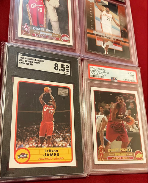 2003-04 LEBRON JAMES ROOKIE BECKETT & TOPPS GRADED CARD LOT! Get ALL 4 ROOKIE CA