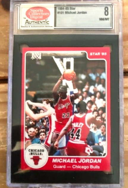 """1984-1985 Michael Jordan Star Rookie Card #101 XRC Graded SCD """"8"""" Near Mint"""