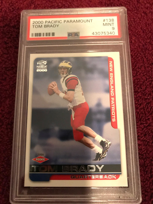 2000 Pacific Paramount 138 Tom Brady PSA 9 New England Patriots RC Rookie 🐐 MVP