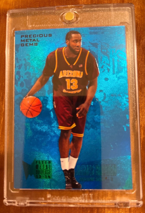 2012-13 FLEER RETRO JAMES HARDEN PRECIOUS METAL GEMS BLUE #245  43/50