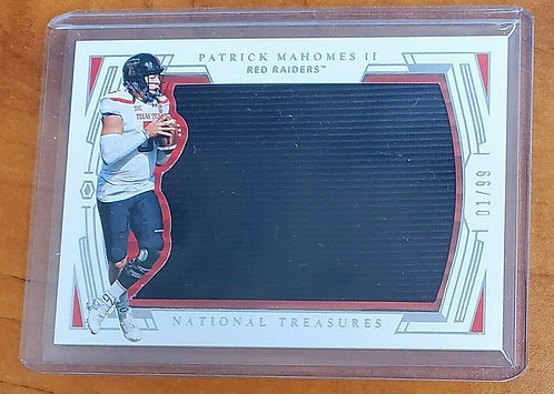 Patrick Mahomes 2020 National Treasures Jersey Patch 1 of 99 first one made
