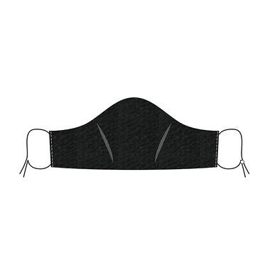 Seersucker Mask in Black