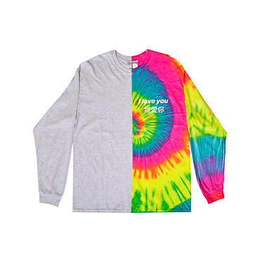 I Love You L/S Tee v2 in Rainbow Road